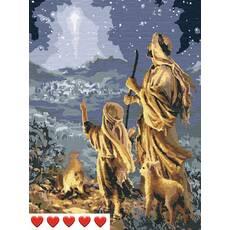 STK Картина по номерах Напередодні рождества, кольорове полотно, 40*50 см, без коробки, ТМ Barvi  ЛАК