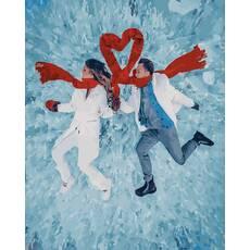 STK Картина по номерам. Зимняя романтика без коробки, 40*50 см, Brushme