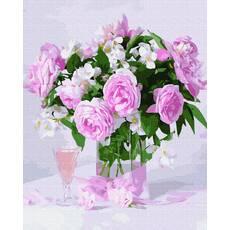 STK Картина по номерах Букет троянд  без коробки, Никитошка, 40*50 см