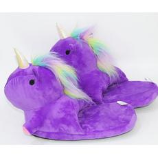 STK Детские тапочки игрушки Единороги, размер 33-36, артикул 1732 фиолетовые