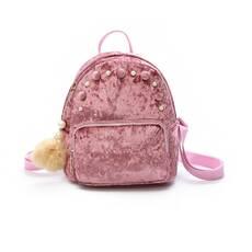 STK оксамитовий рюкзак Пудри з перлами