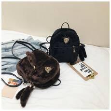 STK Меховый рюкзак з моордочкой середнього розміру