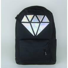 STK Чорний міський рюкзак з кристалом