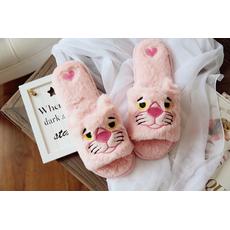 STK Тапочки Розовая пантера открытые, 36-37, стелька 23.5 см