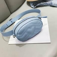 STK Поясная голубая сумка, бананка без цепочки