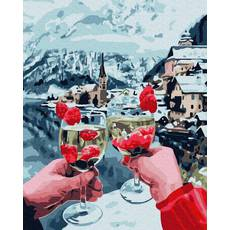 STK Картина по номерах Вихідні на озері Браес без коробки, Никитошка, 40*50 см