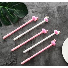 STK Ручка гелевая Фламинго белая