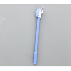STK Ручка гелевая Единорог голубой