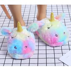 STK Тапочки-іграшки Однороги веселкові. розмір 35-38