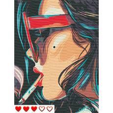 STK Картина по номерах Дівчина, кольорове полотно, 40*50 см, без коробки, ТМ Barvi  ЛАК