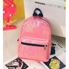 STK Маленький рюкзак с блестками розовый
