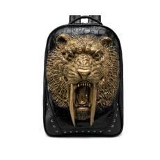 STK Черный рюкзак Саблезубый тигр