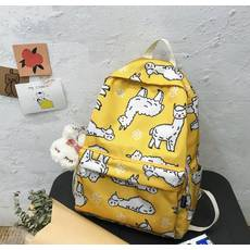 STK Рюкзак с овечками желтый