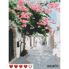 STK Картина по номерах Вуличками Греції, кольорове полотно, 40*50 см, без коробки, ТМ Barvi  ЛАК