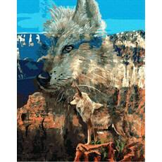 STK Картина по номерам Волк  без коробки, Никитошка, 40*50 см