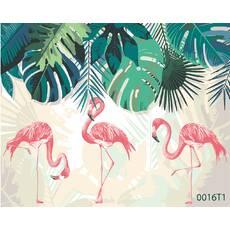 STK Картина по номерам Фламинго, цветной холст, 40*50 см, без коробки Barvi
