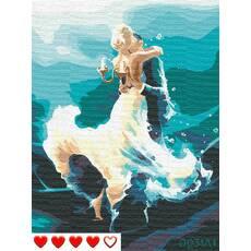 STK Картина по номерах Пари в танці, кольорове полотно, 40*50 см, без коробки, ТМ Barvi  ЛАК
