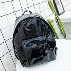STK Рюкзак голограммный среднего размера черный