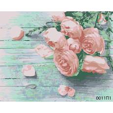 STK Картина по номерам Букет роз, цветной холст, 40*50 см, без коробки Barvi