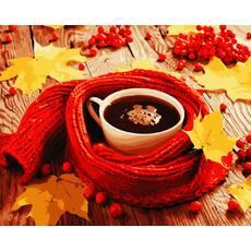 """STK Картина по номерах """"Чашка кави"""" 40*50 см в коробці, ArtStory   акриловий лак"""