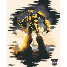STK Картина по номерам Трансформеры, цветной холст + лак, 40*50 см, без коробки Barvi