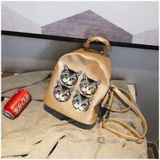 STK Невеликий рюкзак з мордочками кольору шампанського