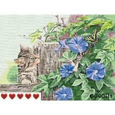 STK Картина по номерам Котенок и бабочка, цветной холст, 40*50 см, без коробки, ТМ Barvi+ ЛАК