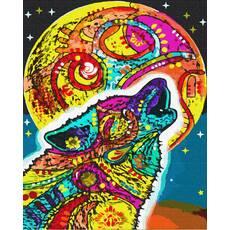 STK Картина по номерах Веселковий вовк без коробки, Никитошка, 40*50 см