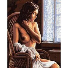 STK Картина по номерам. Обнаженная девушка, 40*50 см, Brushme в коробке+лак