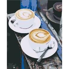 STK Картина по номерам Кофе для двоих, цветной холст, 40*50 см, без коробки Barvi