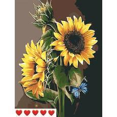 STK Картина по номерах Соняшники, кольорове полотно   лак, 40*50 см, без коробки Barvi