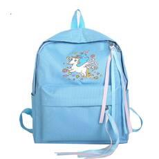 STK Рюкзак з однорогом блакитний