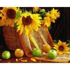 STK Картина по номерах. Кошик соняшників, 40*50 см, Brushme