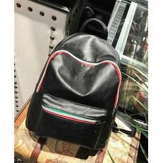 STK Чорний рюкзак з кожзама з тисненням