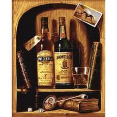 STK Картина по номерах. Чоловічий бар, 40*50 см, Brushme в коробці лак
