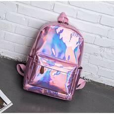 STK Рюкзак голографічний середнього розміру рожевий