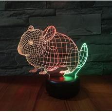 STK Ночник 3д двухцветный. Мышка