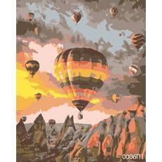 STK Картина по номерам Воздушные шары, Кападоккия, цветной холст, 40*50 см, без коробки Barvi