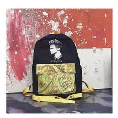 STK Рюкзак з кишенею голограми золотий