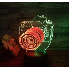 STK Ночник 3д двухцветный. Фотоаппарат
