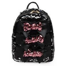 STK Рюкзак чорний з паетками і бантиками