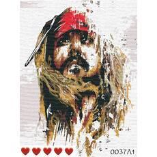 STK Картина по номерах Капітан Джек Воробей, кольорове полотно   лак, 40*50 см, без коробки Barvi