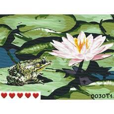 STK Картина по номерам Лилия, цветной холст, 40*50 см, без коробки Barvi