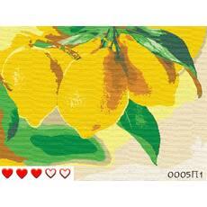 STK Картина по номерах Лимоны, кольорове полотно, 40*50 см, без коробки Barvi