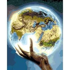 """STK Картина по номерам """"Планета Земля"""" 40*50 см в коробке, ArtStory + акриловый лак"""