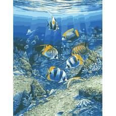 """STK Картина по номерам """"Мир под водой"""" 50*65 см в коробке, ArtStory + акриловый лак"""
