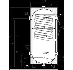 Бак теплоакумулятор ЕАI-11-2000