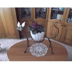 """Кованая подставка для цветов """"Кот"""""""