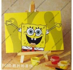 Мольбертики с акриловыми красками Sponge Bob