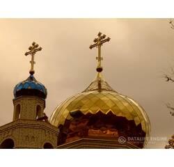 Церковний купол з хрестом православний